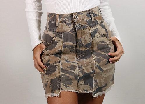 Falda jeans camo militar