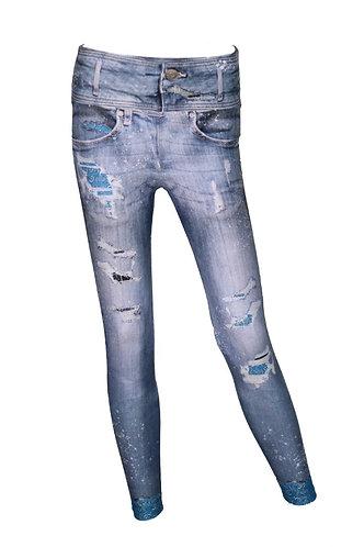 Leggings jeans pañuelo bebé