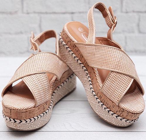 Shoes sandalias beige