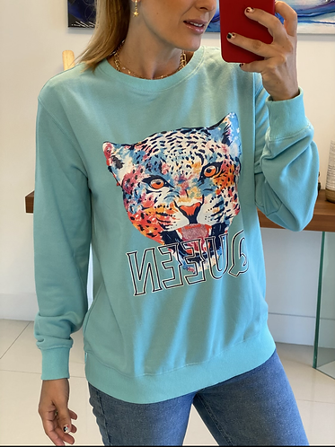 Sweater blue tiger