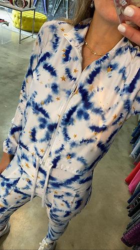 Jacket babucha tie dye blue