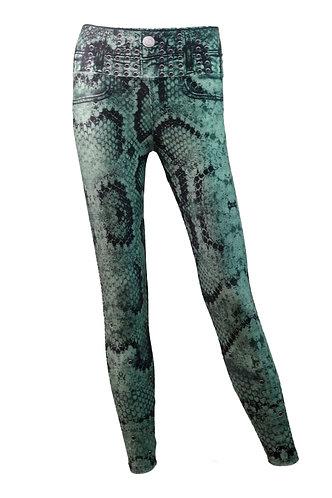 Leggings jeans snake olive Beba