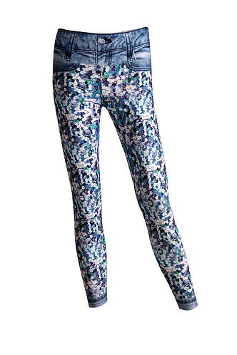 Leggings blue jeans lele