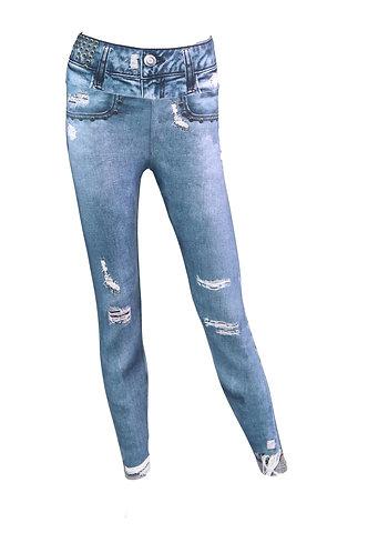 Leggings jeans basic blue