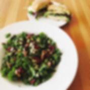 Gluten free and vegan salad menu