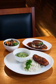Fotografia Restaurante oriental comida japonesa