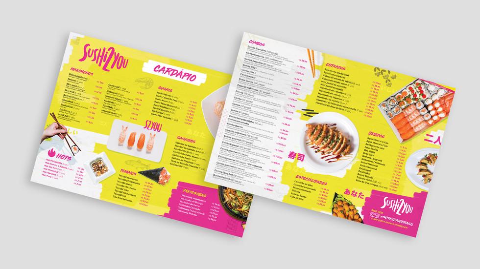 Sushi 2 You - Identidade Visual Branding Cardápio