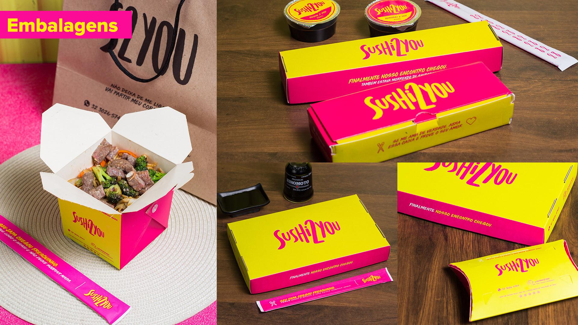 Sushi 2 You - Identidade Visual Branding Embalagens