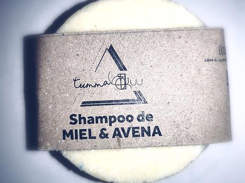 Shampoo Sólido de Miel con Avena