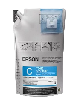 Epson Ultrachrome DS Ink - Cyan - 1 Liter Bag