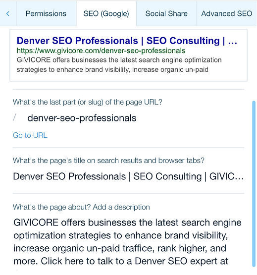On page SEO l GIVICORE