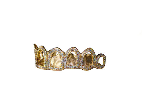 Gold Diamond Outline Grill