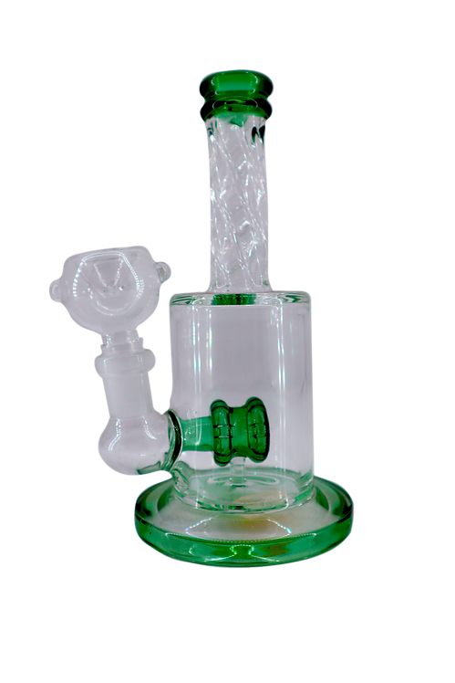 "8"" Green glass Water Pipe"
