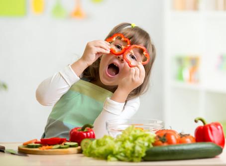 Alimentação vegetariana para bebês e crianças