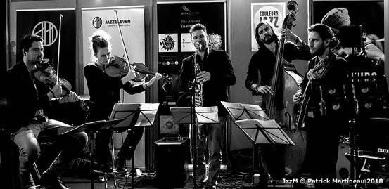 Bastien Ribot (vln) Aude-Marie Duperret (alto) Maxime Berton (ts, clb) François Poitou (b) Antonino Pino (g)