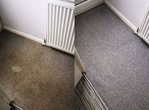 During shot of carpet cleaning 1stclassc