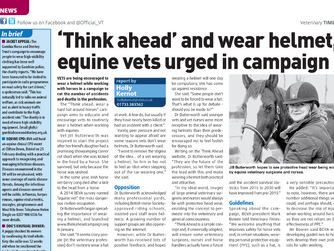 Think Ahead Campaign featured in the Veterinary Times
