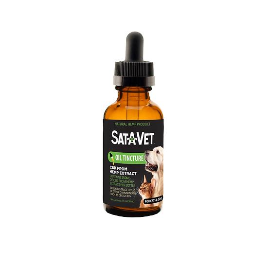 Sat-A-Vet Pet Oral Tincture / 250 mg  / 500 mg