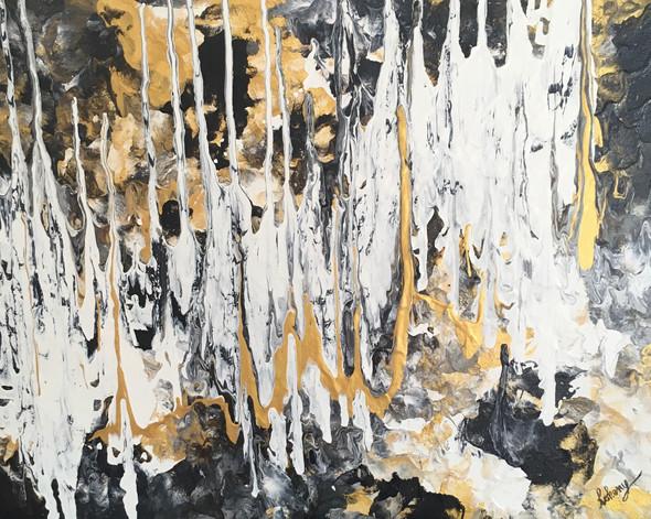 Illuminated Golden Cave