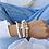 Thumbnail: Bracelet wood 4 mm naturel Coeur blanc