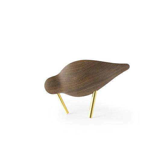 Shorebird noyer / laiton petit modèle