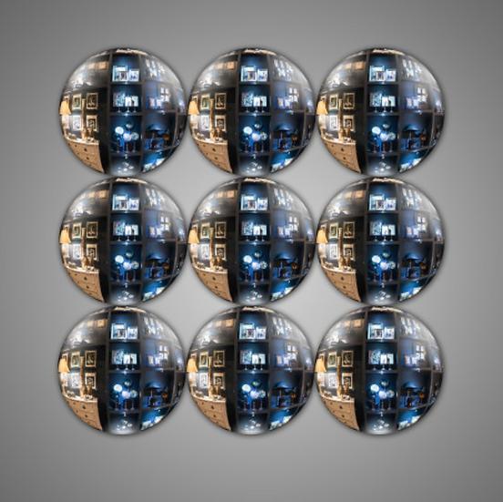 Set 9 petits miroirs Sorcières