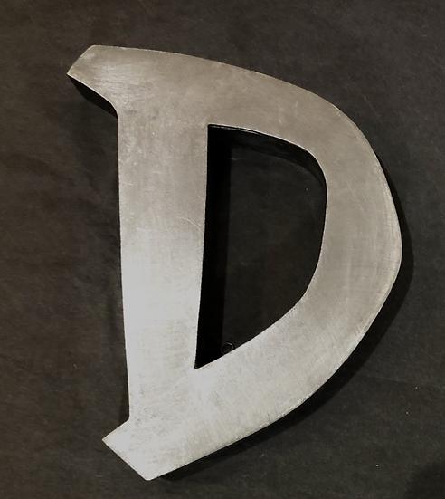 """Lettre """"D"""" zinc"""