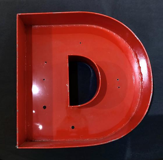 """Lettre """"D"""" rouge"""