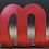 """Thumbnail: Lettre """"M"""" rouge"""