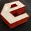 "Thumbnail: Lettre ""E"" Rouge & Blanc"