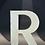 "Thumbnail: Lettre ""R"" blanc"