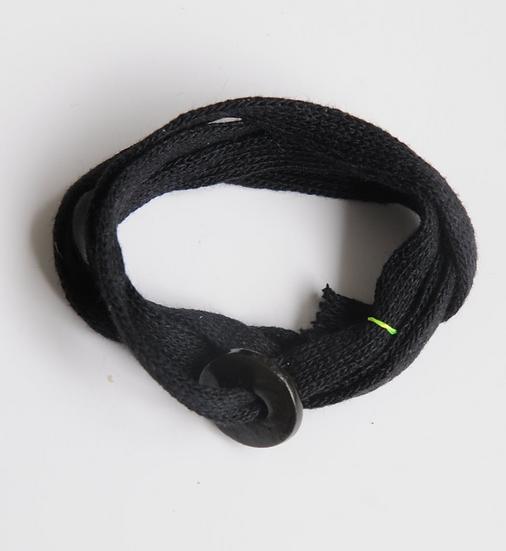 Bracelet Baroudeur anneau noir