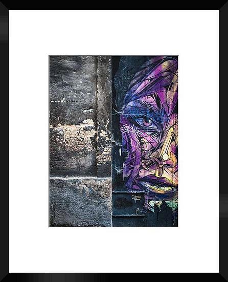 """Photo encadrée """"Street Art"""" 50x40"""