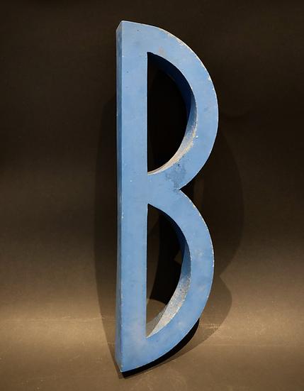 """Lettre """"B"""" bleue"""