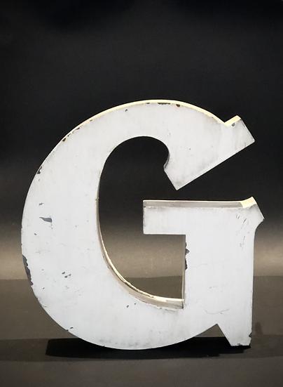 "Lettre ""G"" blanc"