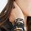 Thumbnail: Bracelet Divine 4mm croix noire
