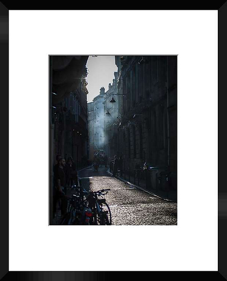 "Photo encadrée ""Rue de la Devise"" 50x40"