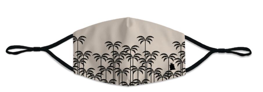Masque femme Palms beige et noir