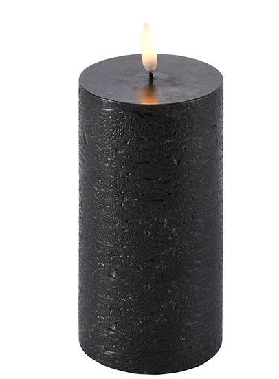 Bougie Led 7,8x15cm Noire