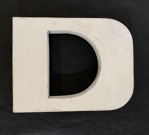 """Lettre """"D"""" blanc"""