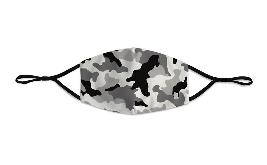 Masque enfant Army camo gris