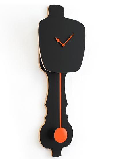 Horloge murale noir satiné KLOQ