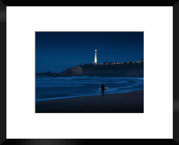 "Photo encadrée ""Surfing by Night"" 50x40"