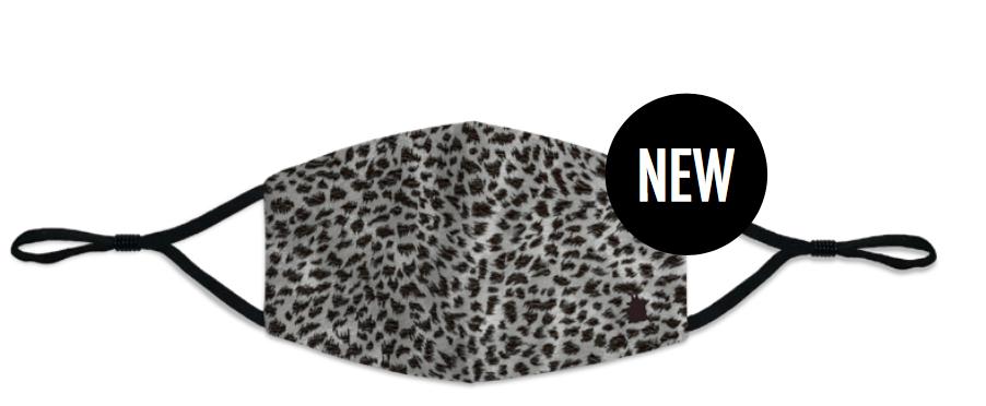 Masque femme Leopard noir et gris