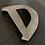 """Thumbnail: Lettre """"D"""" zinc"""