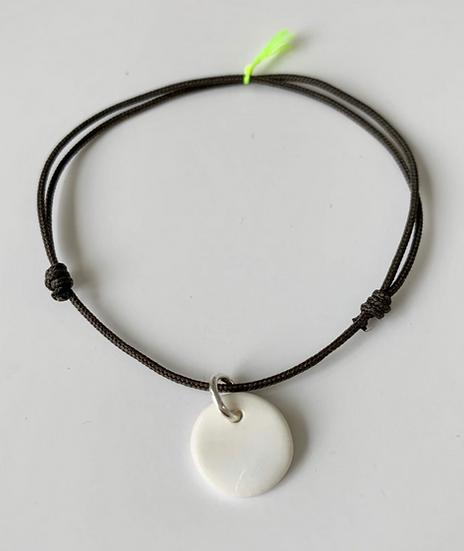 Bracelet Essentiel gris pleine lune blanche