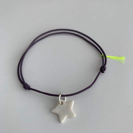 Bracelet Essentiel Violet étoile blanche