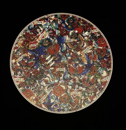 Set 6 sous verre vinyle