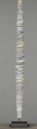 Sculpture de monnaie Papou bleue grande taille