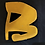 """Thumbnail: Lettre """"B"""" jaune & noir"""